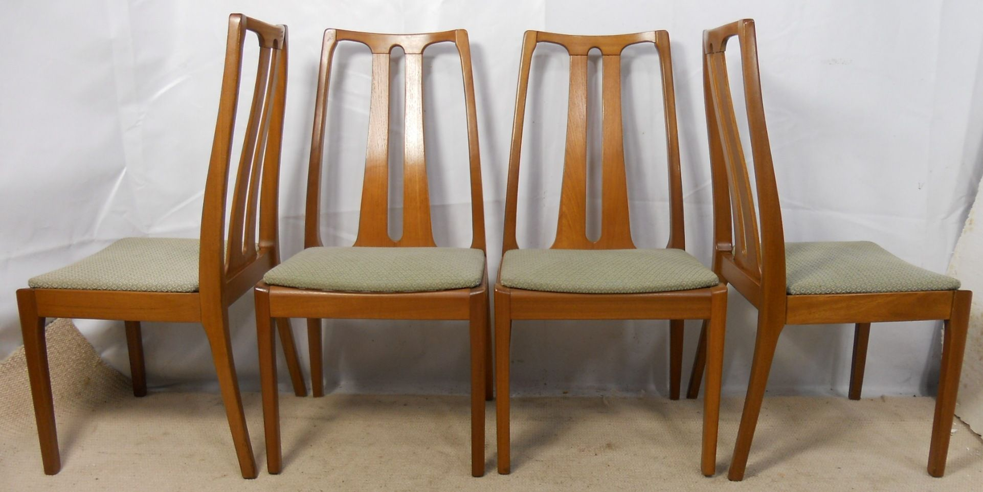 of Four Teak Retro Dining Chairs by Nathan - SOLD